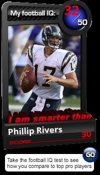 "Futures: ""I am smarter than 'Phillip' Rivers"""