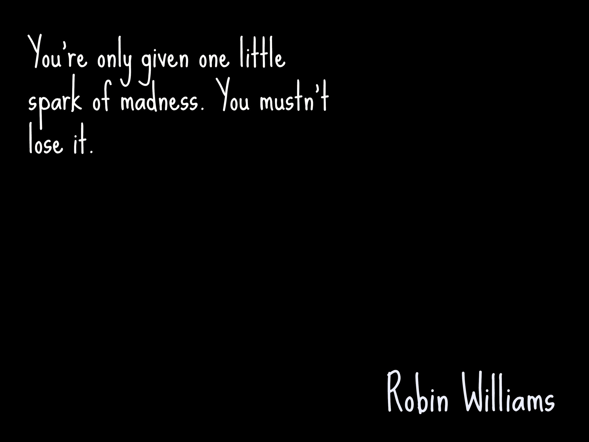 On Robin Williams' Passing