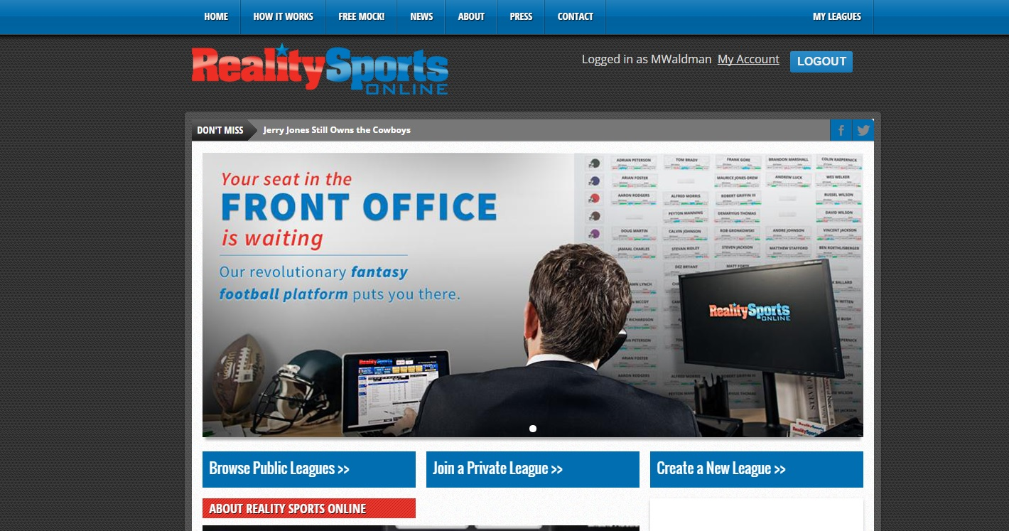 @RealitySportsOn (Reality Sports Online) Writers' League: The Free Agent Auction