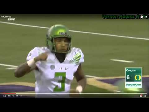 Oregon QB Vernon Adams, Jr.: The Language of a Playmaker