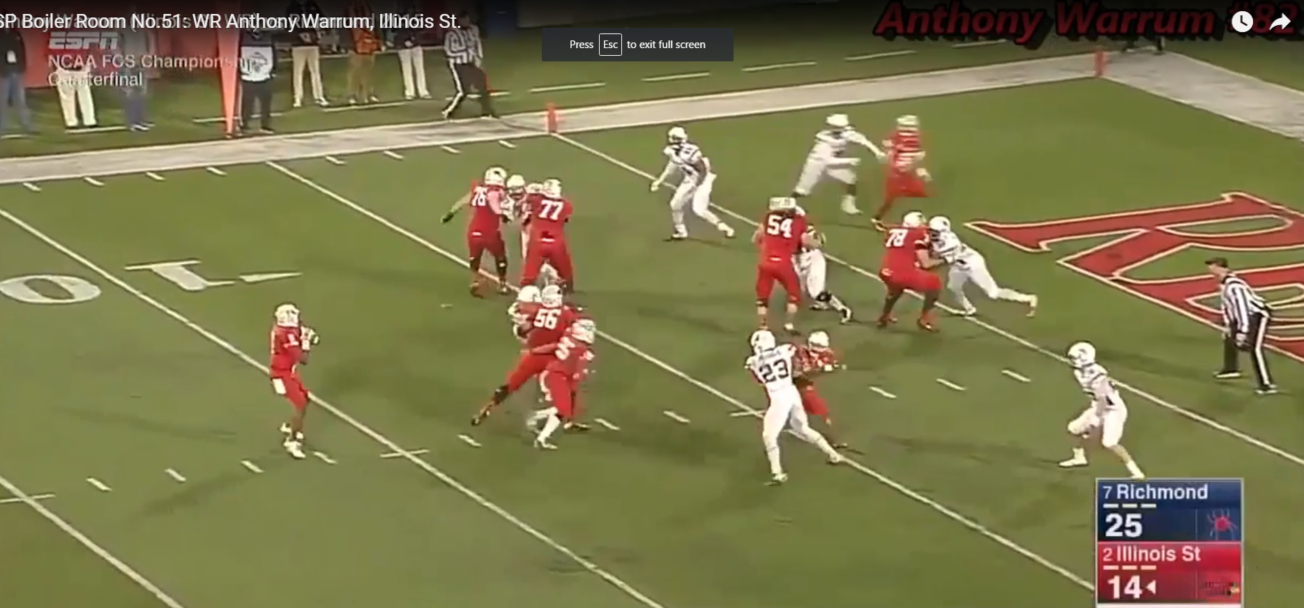 RSP Boiler Room No.51: WR Anthony Warrum, Illinois St.