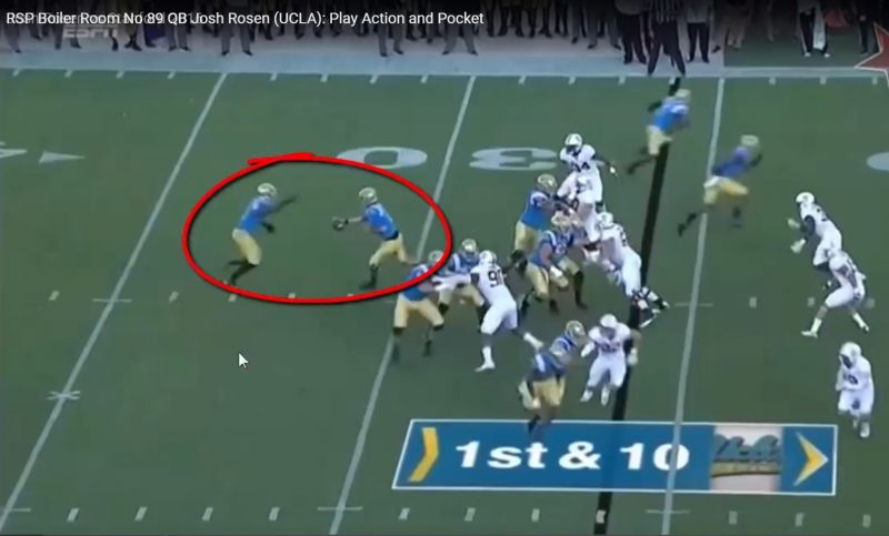 RSP Boiler Room No. 89 QB Josh Rosen (UCLA): Play Action and Pocket