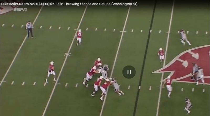 RSP Film Room No.87 QB Luke Falk (Washington St.): Throwing Stance and Setups