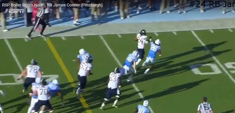 RSP Boiler Room No. 91: RB James Conner (Pittsburgh)
