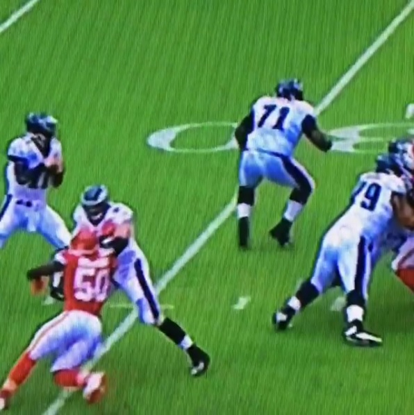 The NFL Lens: OLB Justin Houston Popping An Iron Door Off Its Frame