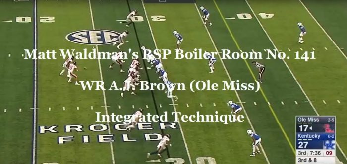 Matt Waldman's RSP Boiler Room No. 141 WR A.J. Brown (Ole Miss): Integrated Technique