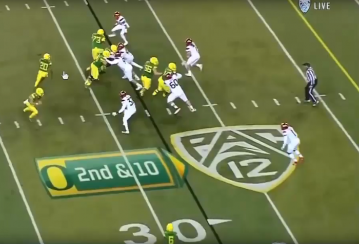 RSP Boiler Room No. 155 RB Tony Brooks-James (Oregon): Pad Level and Leverage