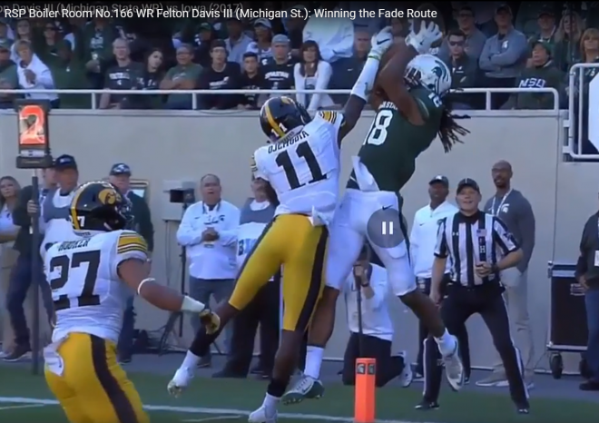 Matt Waldman's RSP Boiler Room No.166 WR Felton Davis III (Michigan St.): Winning the Fade