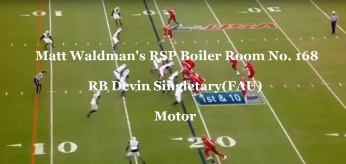 RSP Boiler Room No. 168 RB Devin Singletary (FAU): Motor