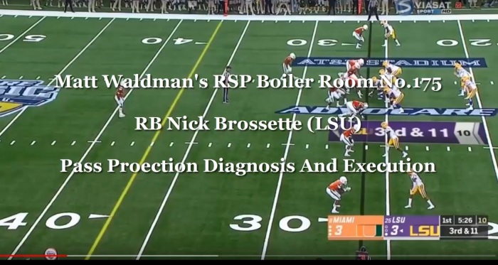 Matt Waldman's RSP Boiler Room No. 176: RB Nick Brossette (LSU) And Grading Pass Protection