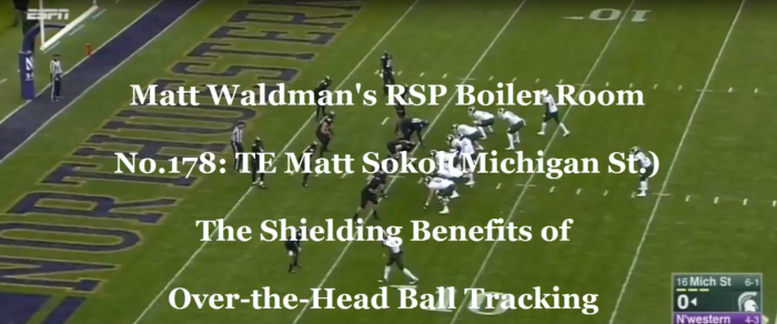 Matt Waldman's RSP Boiler Room No.178 TE Matt Sokol (Michigan St.): Ball Tracking