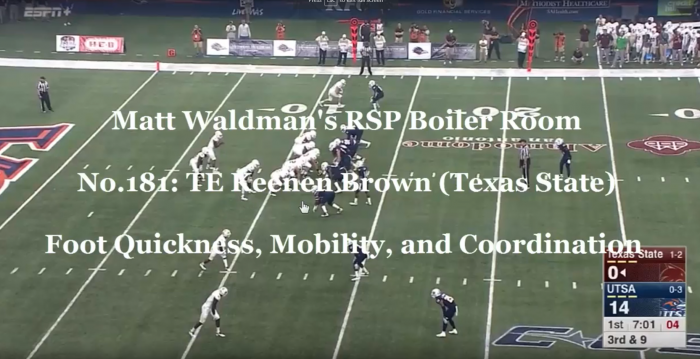 RSP Boiler Room No.181 TE Keenen Brown (Texas State)