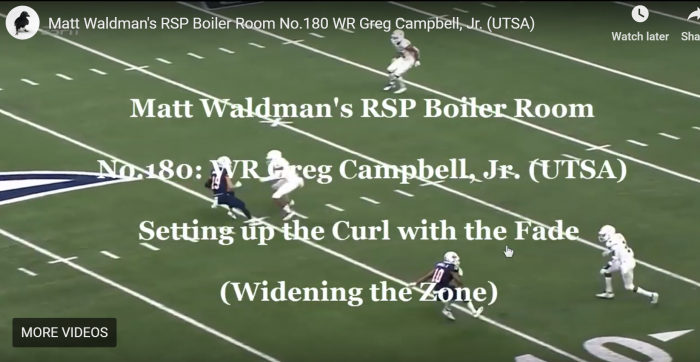 Matt Waldman's RSP Boiler Room No.180 WR Greg Campbell, Jr. (UTSA): Widening the Opponent