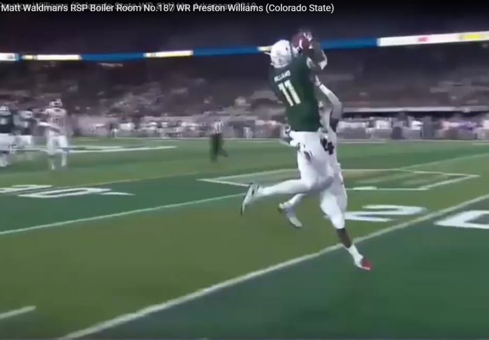 Matt Waldman's RSP Boiler Room No.187: WR Preston Williams (Colorado State)