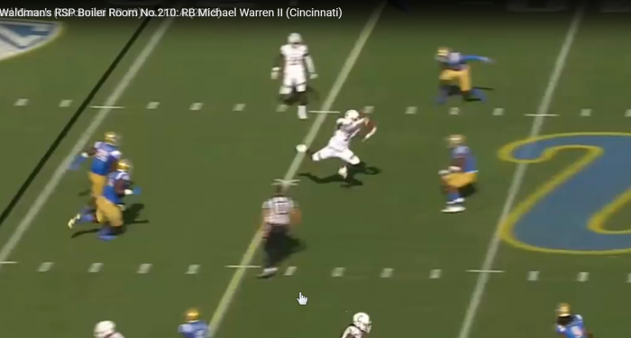 Matt Waldman's RSP Boiler Room No.210: RB Michael Warren II's (Cincinnati) Receiving Skills