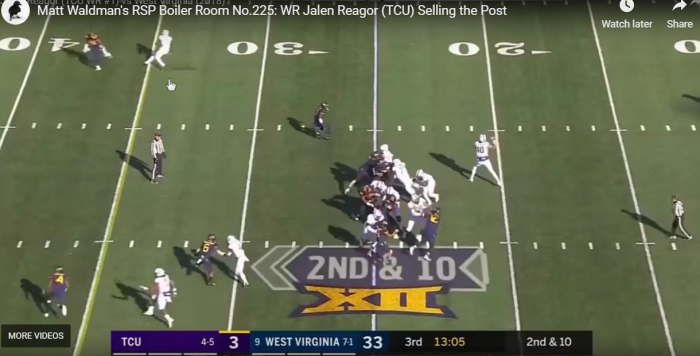 Matt Waldman's RSP Boiler Room No.225: WR Jalen Reagor (TCU) Selling the Post