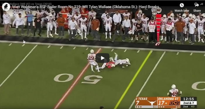 Matt Waldman's RSP Boiler Room No.219: Hard Breaks For WR Tylan Wallace (Oklahoma St.)