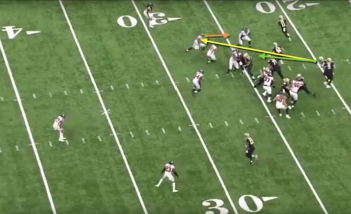 Matt Waldman's RSP NFL Lens: Winning vs. Stacked Boxes with the Saints Offensive Line