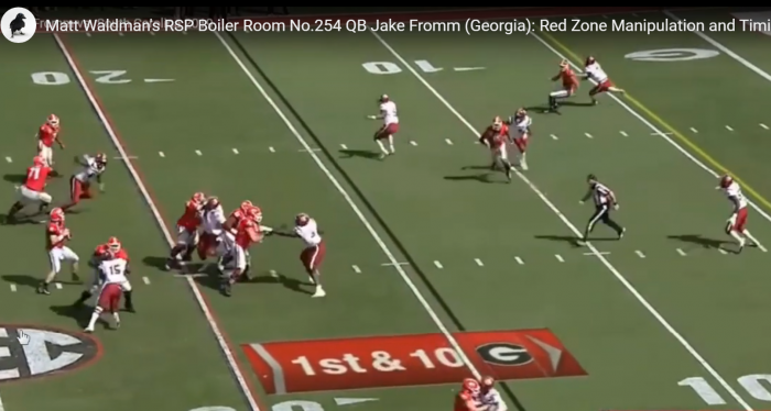 Matt Waldman's RSP Boiler Room No.254 QB Jake Fromm (Georgia): Red Zone Manipulation and Timing