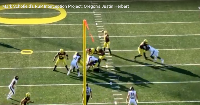 Mark Schofield's RSP Interception Project: Oregon's Justin Herbert