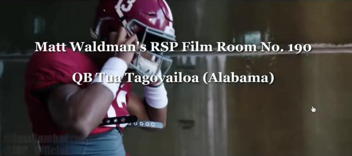 Matt Waldman's RSP Film Room: QB Tua Tagovailoa (Alabama)