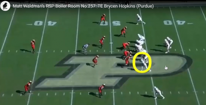 Matt Waldman's RSP Boiler Room TE Brycen Hopkins (Purdue): Awareness, Body Control, and Toughness