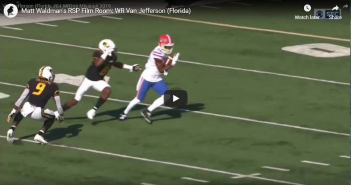 Matt Waldman's RSP Film Room: WR Van Jefferson (Florida)