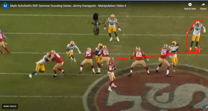 Mark Schofield's RSP Summer Scouting Series: QB Jimmy Garoppolo's (49ers) Manipulation Skills Part II