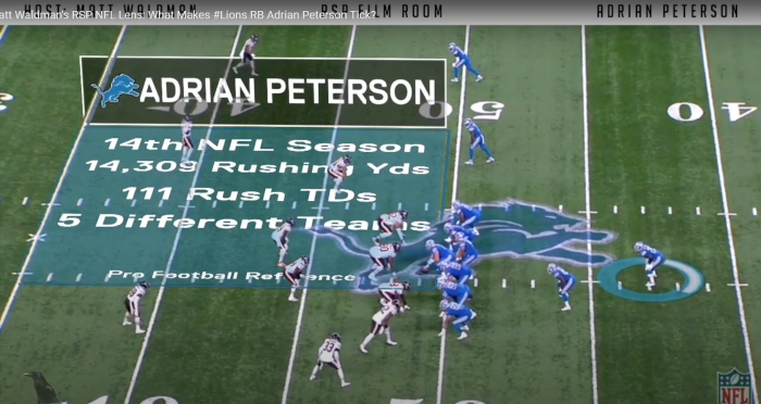 Matt Waldman's RSP NFL Lens: What Makes #Lions RB Adrian Peterson Tick?