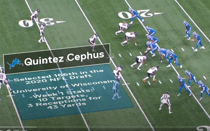 Matt Waldman's RSP NFL Lens: WR Quintez Cephus' #Lions Debut