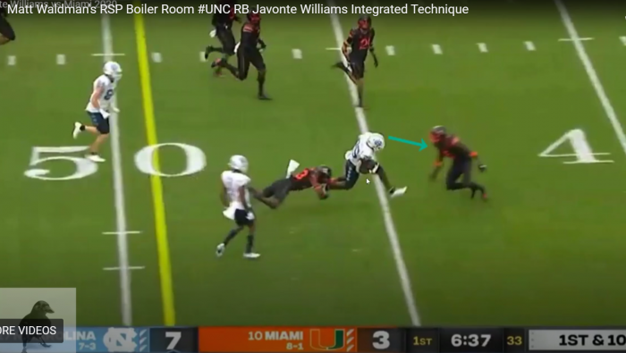 Matt Waldman's RSP Boiler Room: #UNC RB Javonte Williams' Integrated Technique