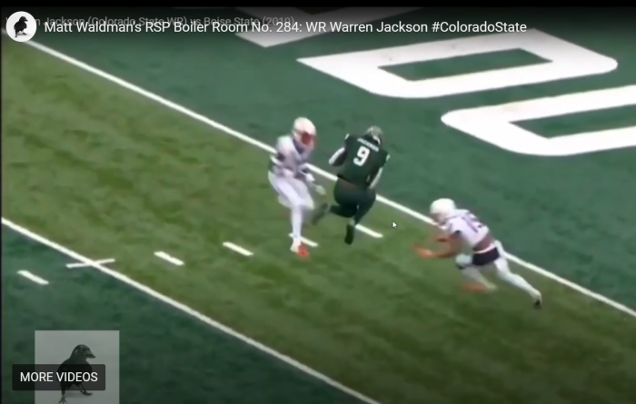 Matt Waldman's RSP Boiler Room: WR Warren Jackson (CSU) Tough Ain't Enough
